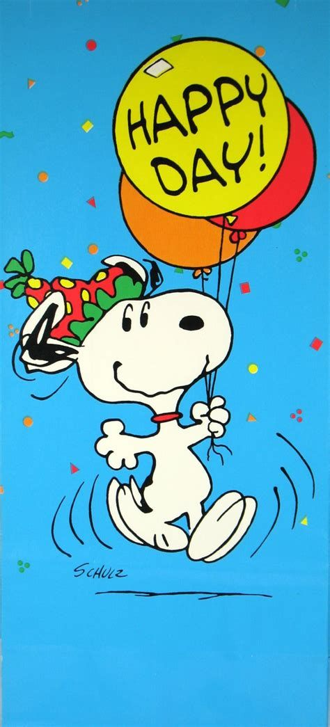 Snoopy Happy Birthday Cards Images Snoopy And Buddies Pinterest