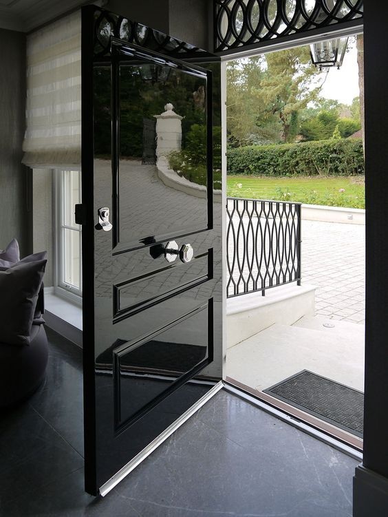 High Gloss Front Doors Wooden Front Doors Black Front
