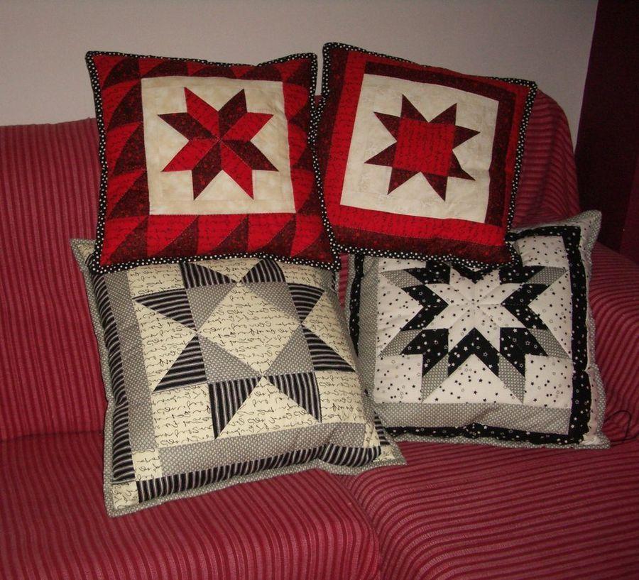 Las mil y una estrellas patchwork con figuras geom tricas - Como hacer pachwork ...