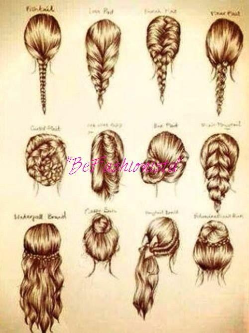 Imagenes de peinados faciles