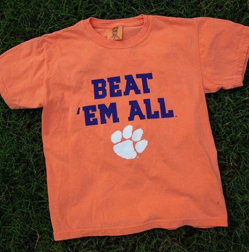 Youth Beat Em All Clemson Shirts Vinyl Shirts Clemson