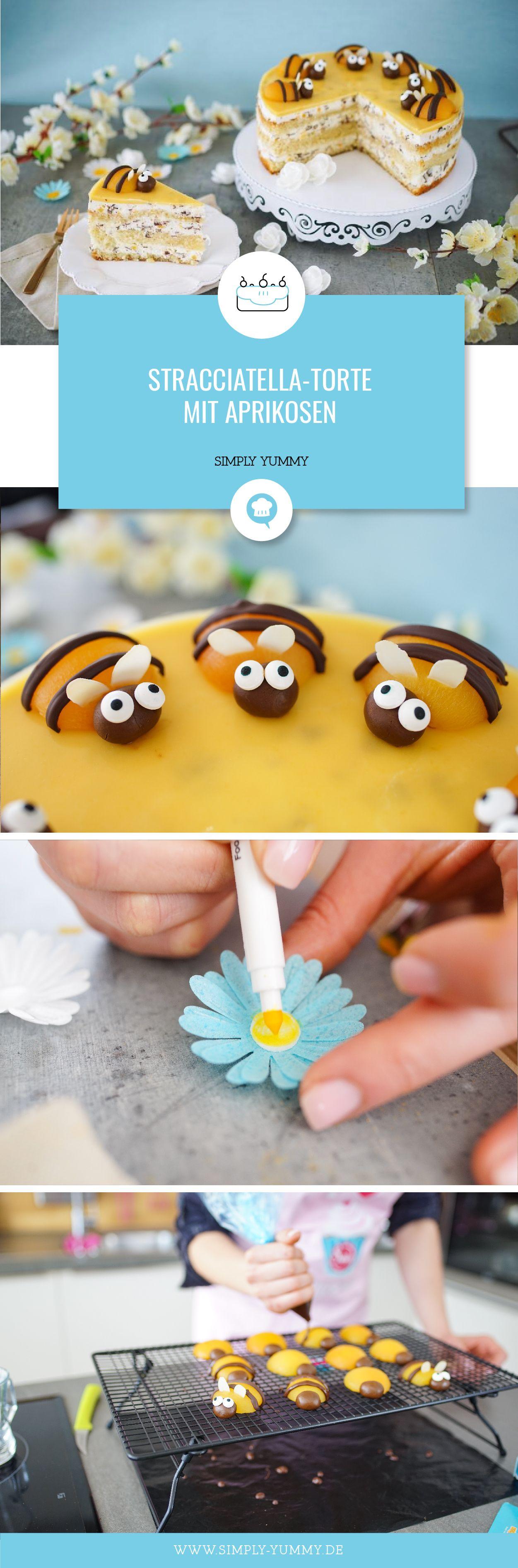 Stracciatella Torte Mit Aprikosen Rezept Backen Pinterest