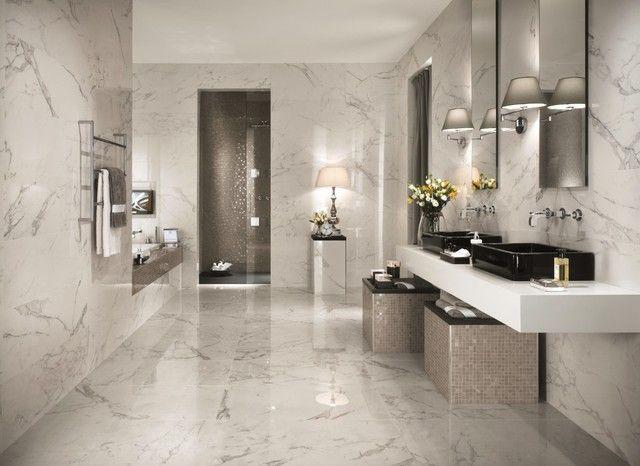 Als Ewige Klassik Bezeichnet Man Die Weißen Marmor Fliesen Mit - Granit fliesen fürs bad