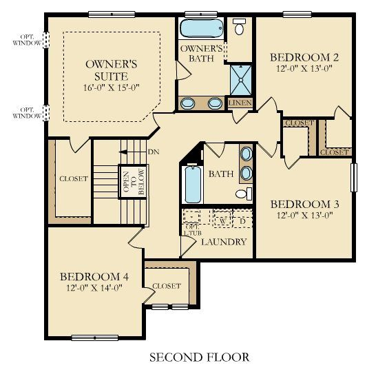 The Calloway Upper Level With Spacious Owner S Suite Floor Plans House Plans Lennar