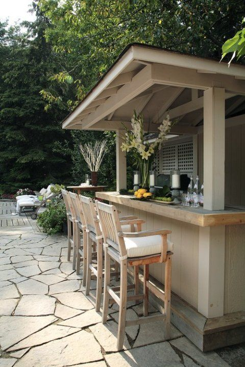 Outside Bar Backyard Patio Pool Balcony Outdoor Kitchen