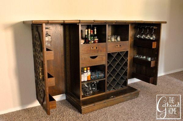 Found Heirloom Teak Bar Bar Cabinet Cabinet Teak