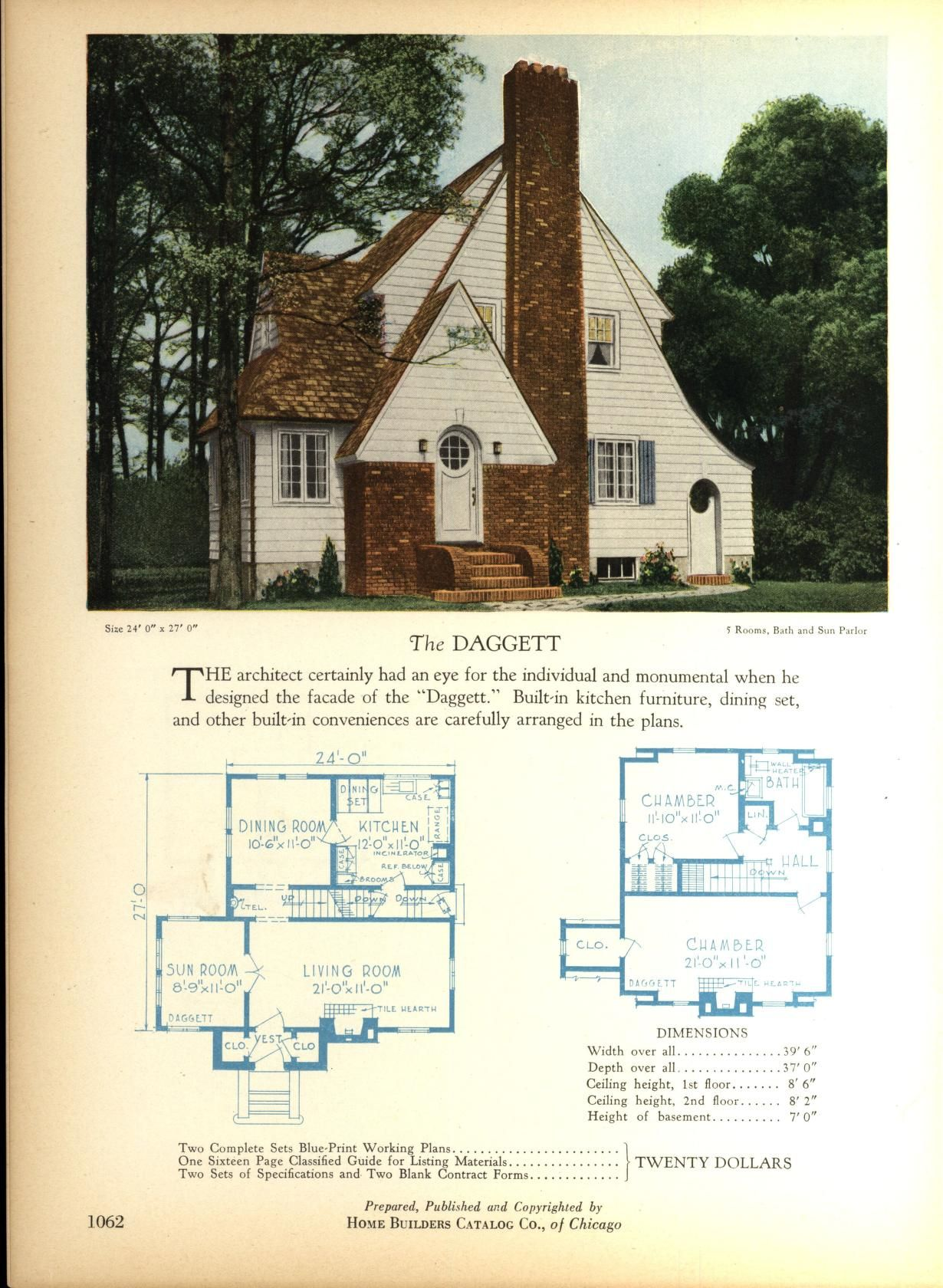 The DAGGETT   Home Builders Catalog  plans of all types of small     The DAGGETT   Home Builders Catalog  plans of all types of small homes by  Home