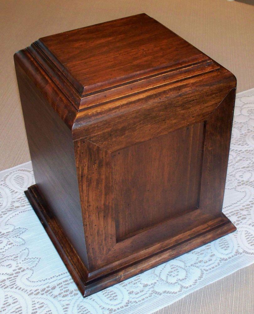 Adult child pet cremation urn loved one dark wood