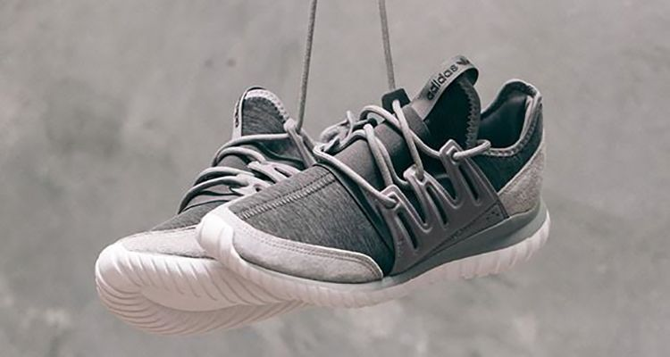 Adidas Tubular Radial Grey On Feet