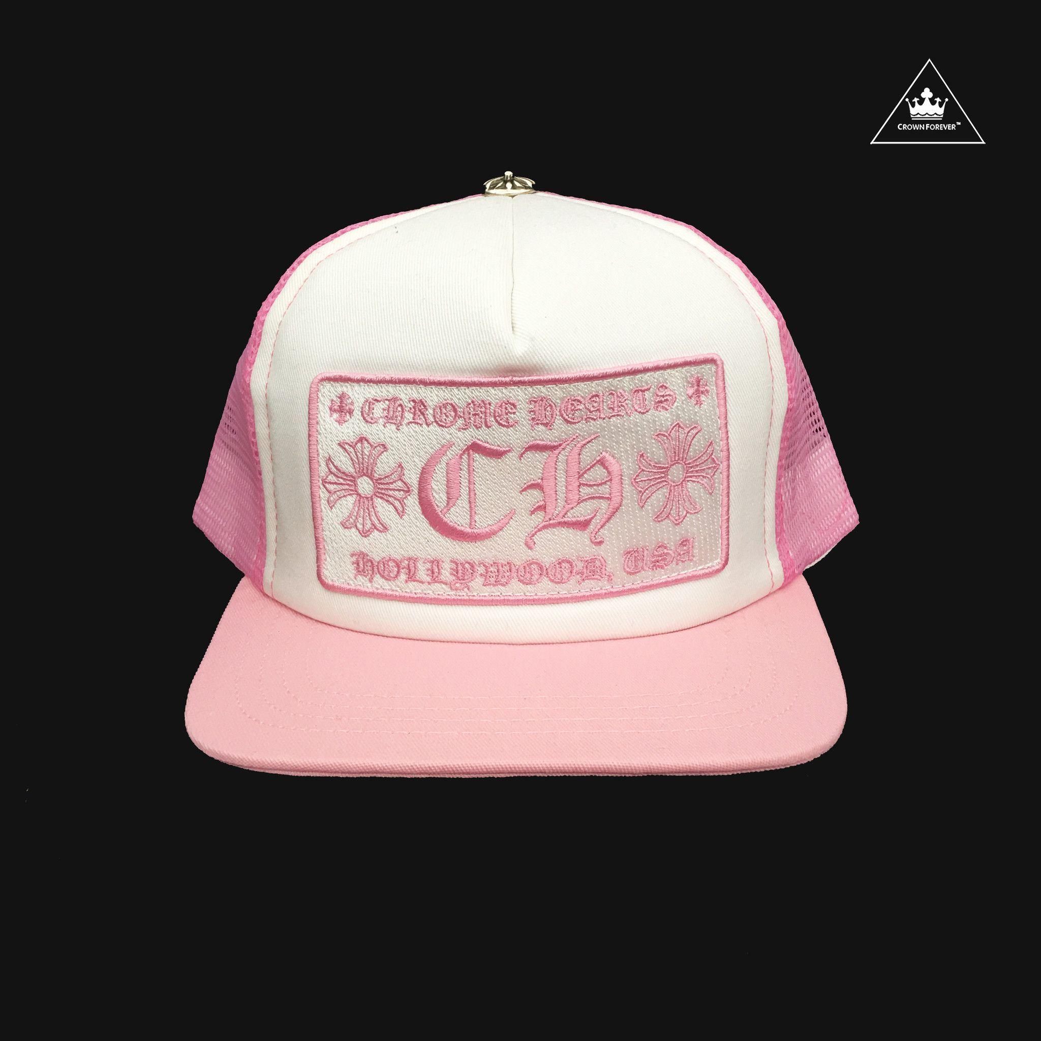 9f253b332 CH Hollywood Trucker Cap - Pink   Chrome Hearts Hats   Cap, Baseball ...