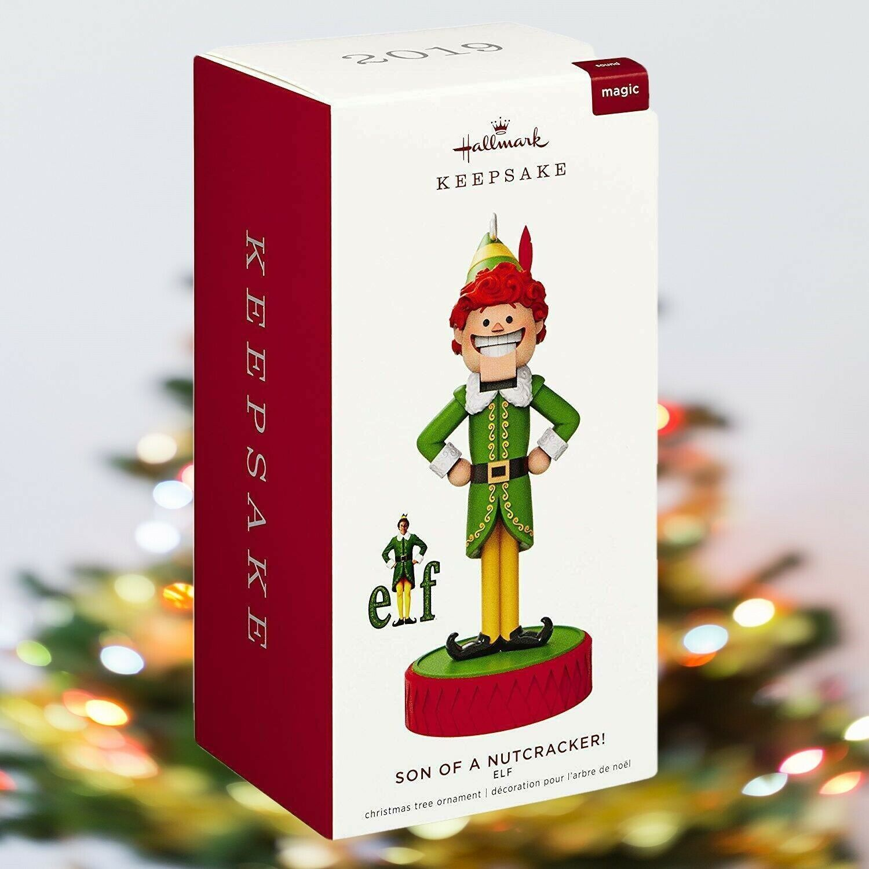 AGD Christmas Decor Son Nutcracker What the Elf Ornament Signs 2pc