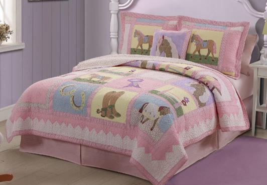 Horse bedding Girls horse quilt twin,full/queen bedding