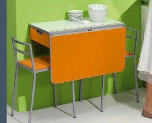 mesa plegable extensible   casa   Mesas de cocina, Cocinas pequeñas ...