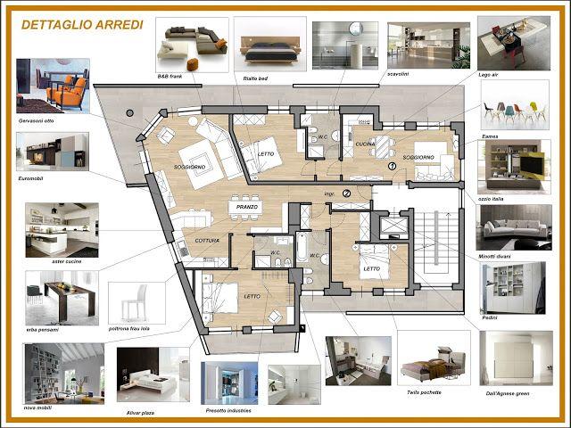 Suddivisione E Arredo Di 2 Appartamenti Progetto Per Concorso Design D Interni Colorato Disegno Hall Design Del Prodotto
