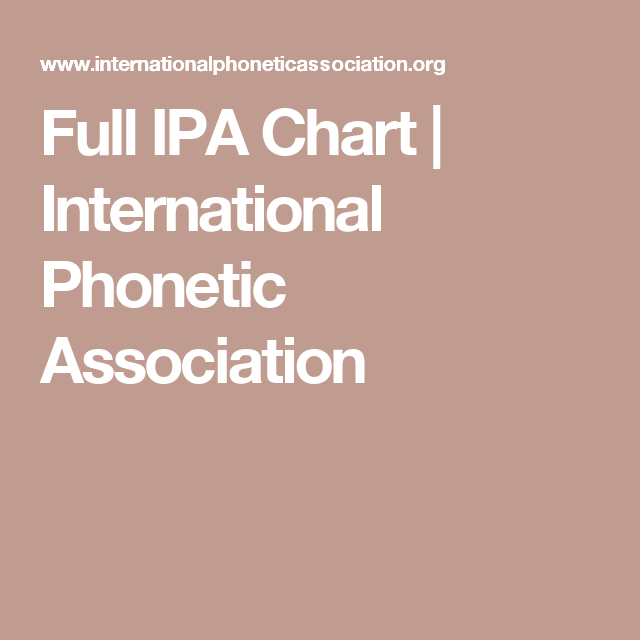 Full Ipa Chart  International Phonetic Association  Spanish