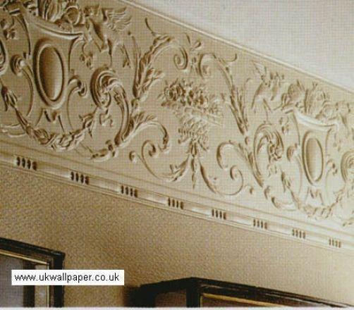 Lincrusta Paintable Textured Frieze Wallpaper Wallcovering Rd1947 Anne Paintable Wallpaper Wall Coverings Victorian Wallpaper