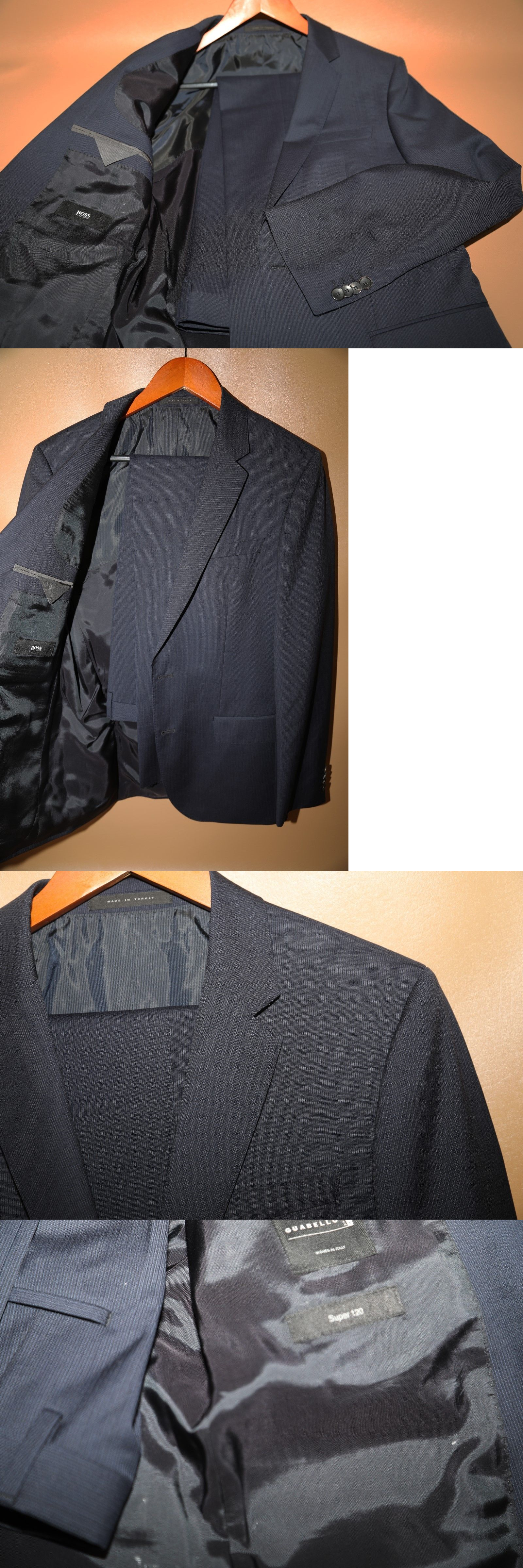 f17ab49d Suits 3001: Hugo Boss Huge4 Genius3 Blue Super 120 S Two Button Suit Size  38 R -> BUY IT NOW ONLY: $325 on eBay!