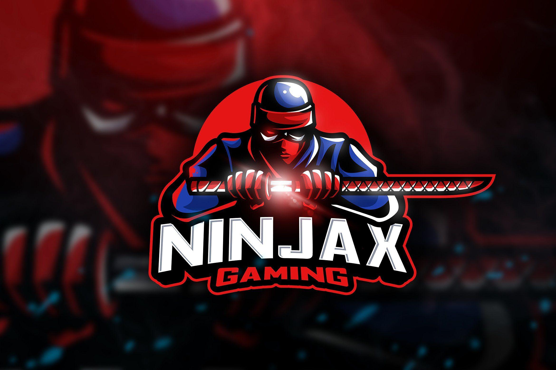 Ninjax Gaming Mascot & Esport Logo Desain, Gambar