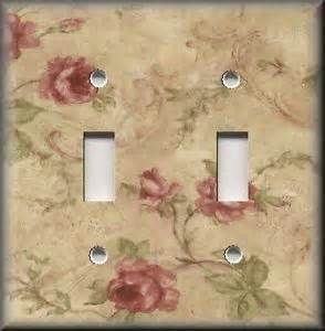 vintage rose wallparer switch plates - - Yahoo Image Search Results