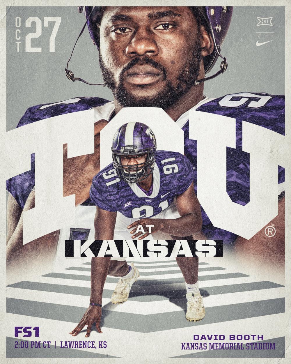 2018 Tcu Football Social Graphics On Behance Tcu Football Sports Graphics Football