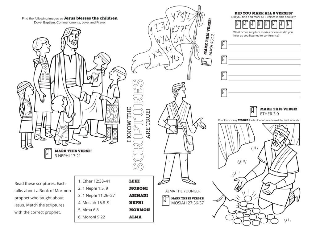 Conference Coloring Page (With images) Lds coloring
