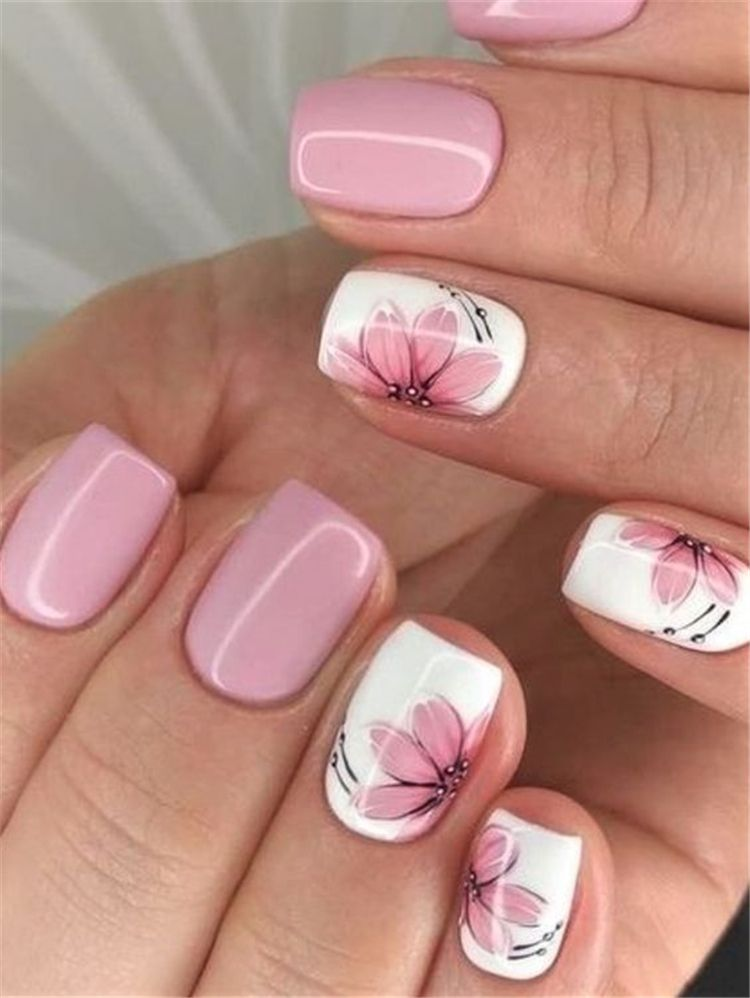 50 and lovely spring square nail designs for you