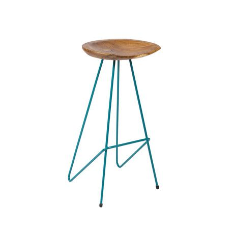 Perch Bar Stool, available in tomato, teal or yellow. gorgeous and sculptural