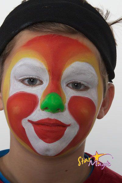 Clown Schminken Stap Voor Stap Clowntje Schminken Kids Makeup