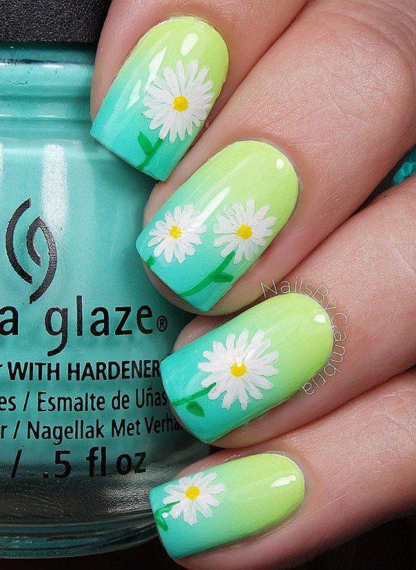 45 Refreshing Green Nail Art Ideas | Pinterest | Uñas cortas ...