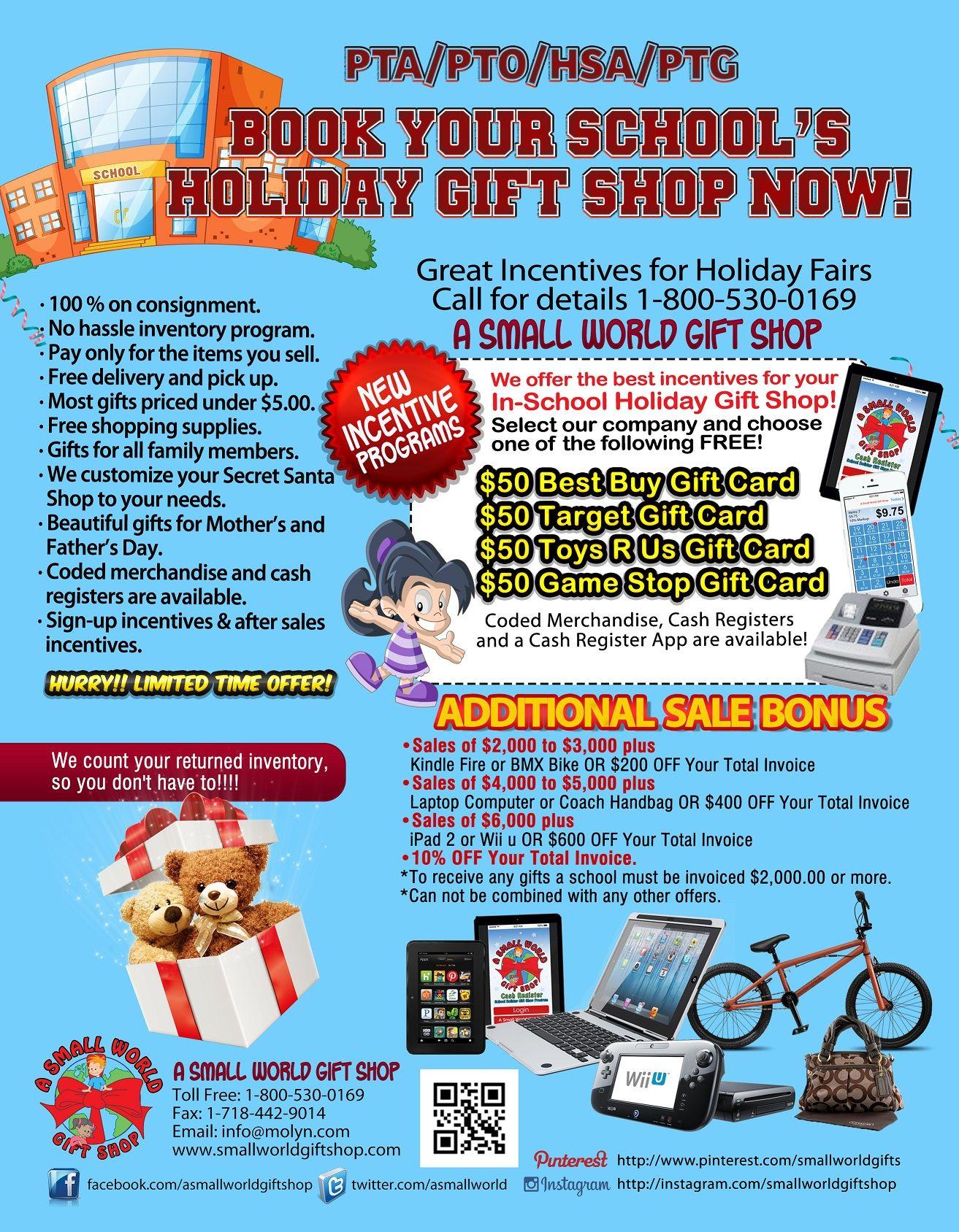 In School Holiday Gift Shop Pta Pto Pinterest Pta School