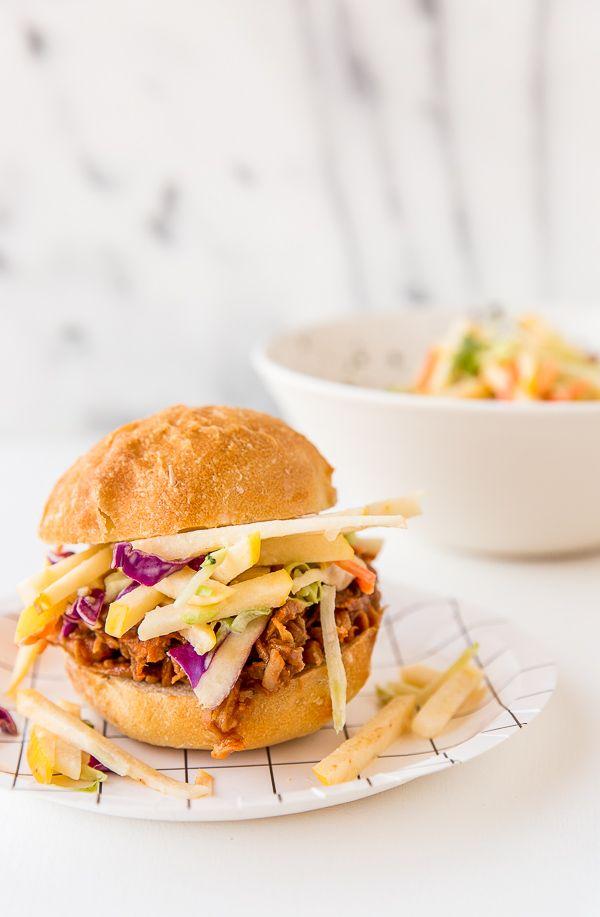 Apple Coleslaw Recipe + BBQ Chicken Sliders with Apple Coleslaw | Paper & Stitch