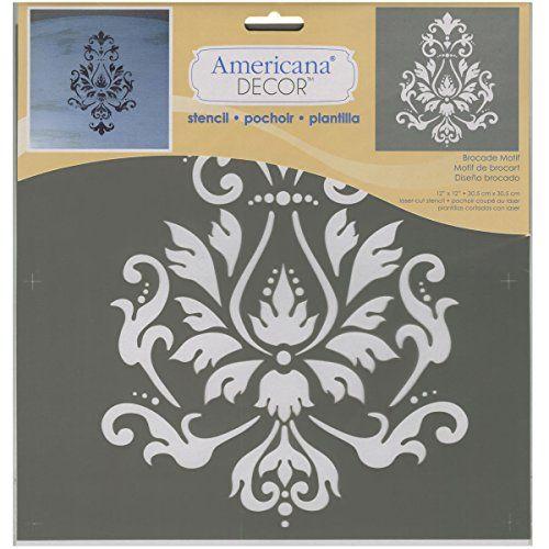 Brocade Home Decor deco art americana decor stencil, brocade motif decoart http://www