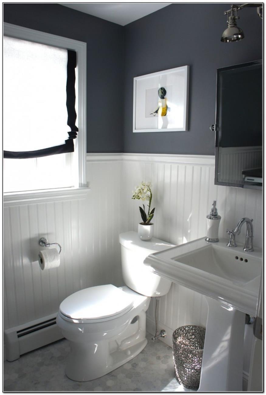 40 Perfect Gray Half Bathroom Decorating Ideas On A Budget Budget Bathroom Remodel Bathroom Styling Half Bathroom Decor