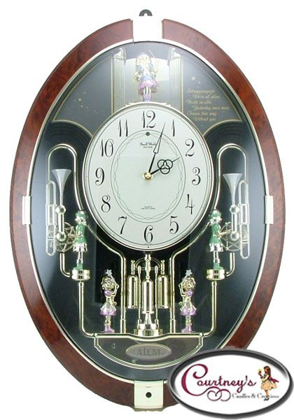 The Trumpet Ringers From Rhythm Small World Clocks Combines Two Bell Ringers With Two Trumpeters The Bell Ringers And Trumpet Clock Rhythm Clocks World Clock