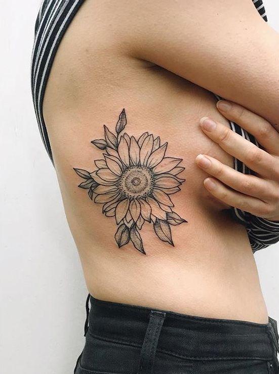 25 Sunflower Tattoos For Women - Bafbouf