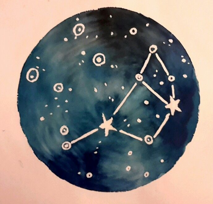 Pleides Sacred Seven Sisters. Constellation watercolour ...