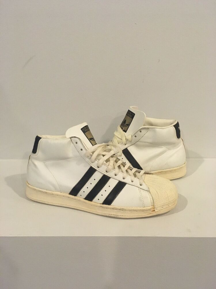 a90d713836 Vtg Original 1970's Adidas Promodel Leather made in France Basketball shoes  10 #shoes #kicks #solecollector