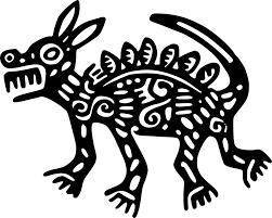 Resultado de imagen para dibujos aztecas de animales a color