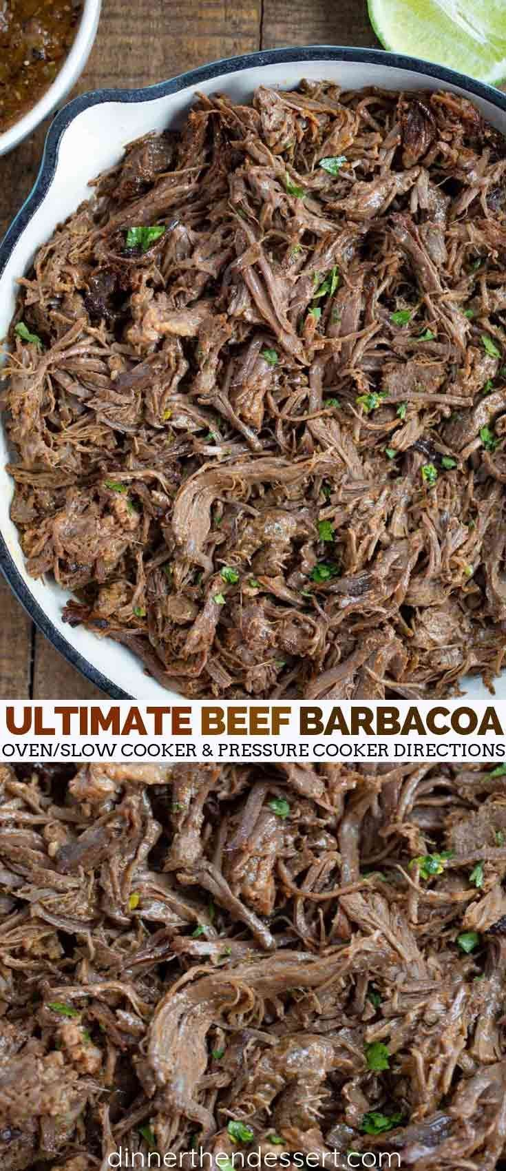 Ultimate Beef Barbacoa - Dinner, then Dessert