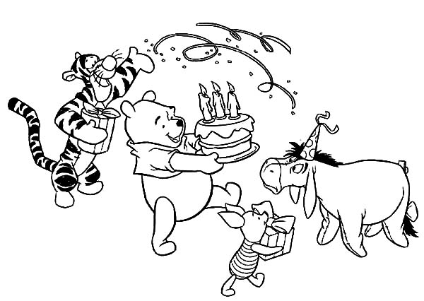 Disney Birthday For Winnie The Pooh Coloring Pages : Best ...