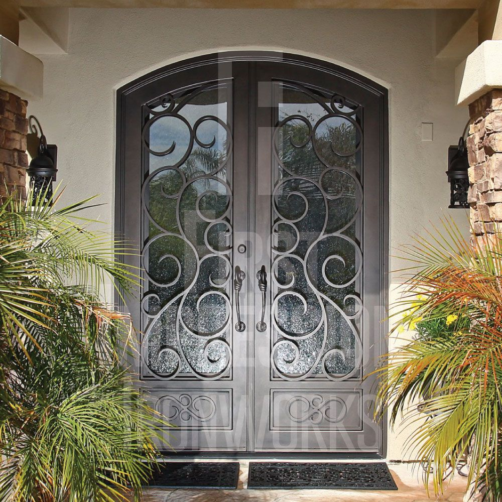 Barcelona French Iron Entry Doors In 2020 Entry Doors Wrought