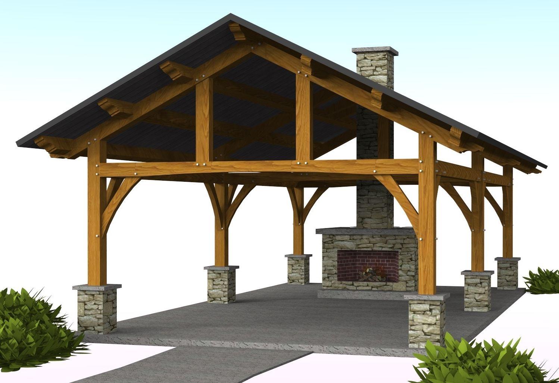 Vandever Pavilion - 16' x 30' | Timber Frame Pavilion ...