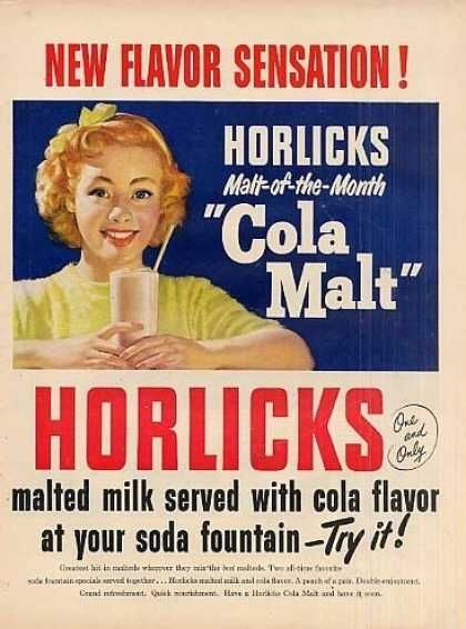 Image result for horlicks 1950s