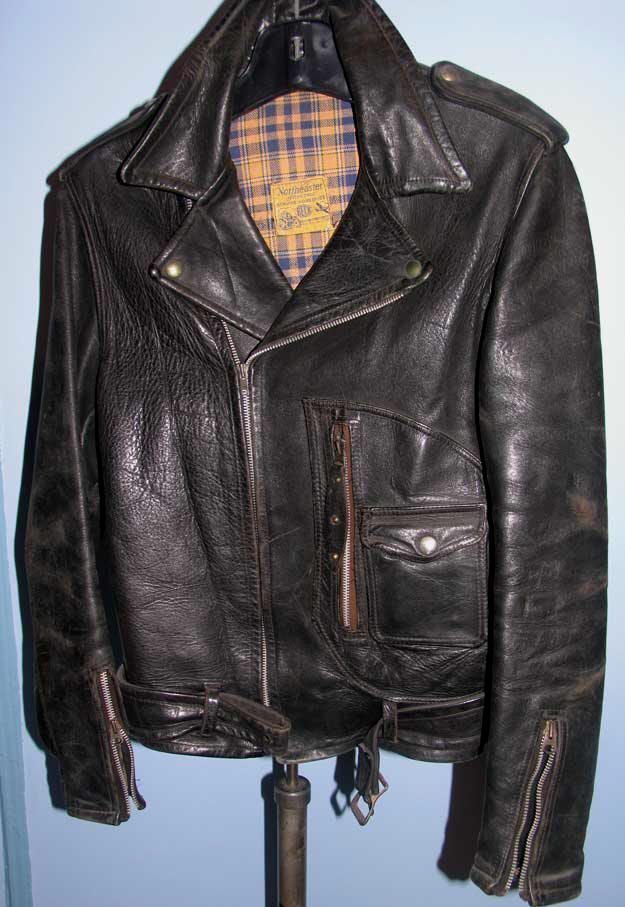 Beck Horsehide Leather Motorcycle Jacket 1940s 50s Leather Jacket Men Denim Jacket Patches Leather Jacket Black