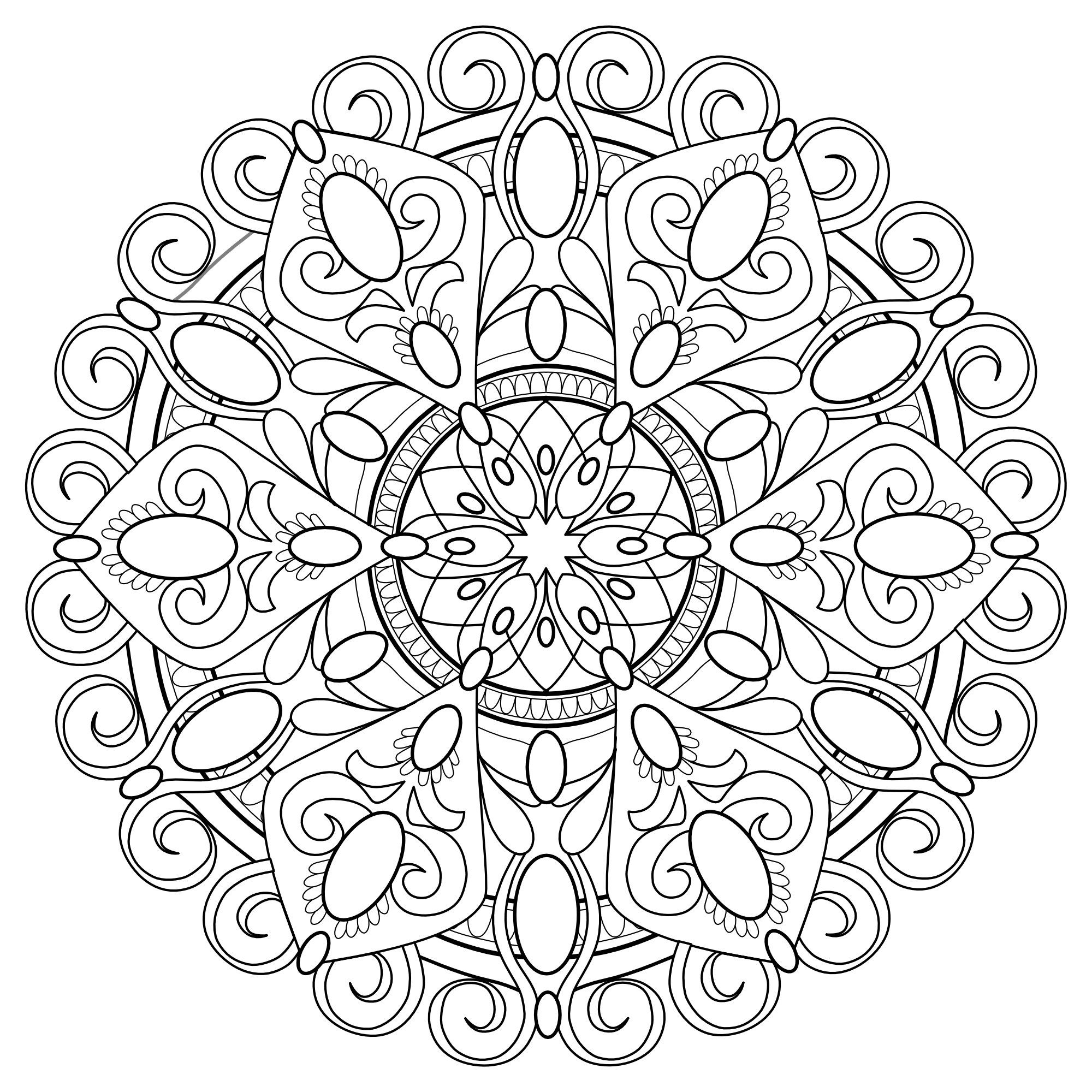 Mandala Madness Coloring Book No 4 5 Printable Pdf Coloring Etsy In 2020 Mandala Coloring Pages Coloring Books Pattern Coloring Pages