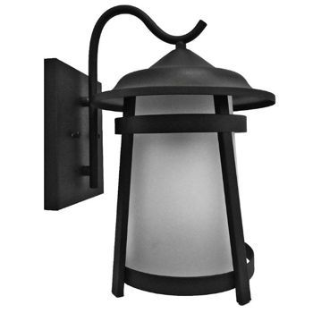 $55 Litex Outdoor Wall Light Fixture Sandy Black Coach Lamp 2 Pack