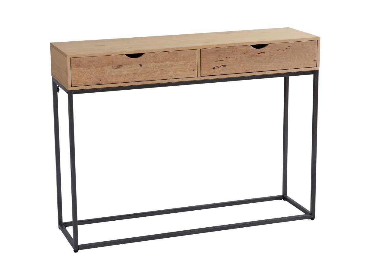 Lc Home Konsolentisch 2 Schubladen Sideboard Wandtisch Eiche