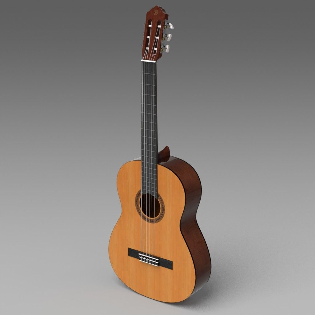 3d Classical Guitar Yamaha C40 Model Acoustic Guitar Yamaha Acoustic Guitar Yamaha C40