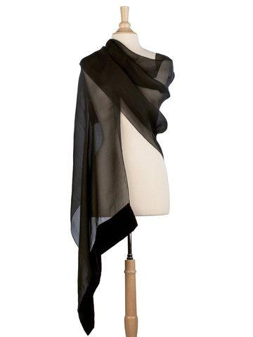 black sheer silk organza evening shawl Abiti Da Sera 6d8c40961d0