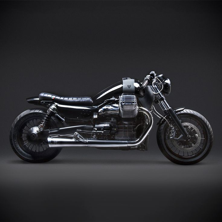 Gotham Style: Moto Guzzi's heavyweight gets a stunning makeover from the New York workshop Venier Custom Motorcycles.